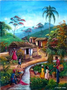 Science Discover 42 Ideas Fruit Trees Painting Canvases For 2019 Art Village Beautiful Nature Wallpaper Beautiful Paintings Landscape Art Landscape Paintings Jamaican Art African Art Paintings Village Photography Scenery Paintings Art Village, Village Scene Drawing, Landscape Art, Landscape Paintings, Jamaican Art, Village Photography, African Art Paintings, Haitian Art, Scenery Paintings