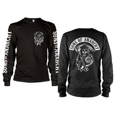 beb48f2ad79a Officially Licensed Sons Of Anarchy Backpatch Long Sleeve T-Shirt S-XXL  Sizes