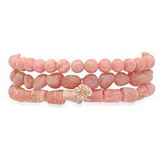 90s Jewelry, Rose Gold Plates, Jewelry Ideas, Beaded Bracelets, Stone, Color, Rock, Pearl Bracelets, Rocks