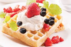 Cake Batter Waffles -E 1 cup oat flour 1/2 cup protein powder 1 Tbsp baking powder 1/2 tsp baking soda 1/4 tsp salt 2 tsp truvia  1/4 cup of 0% plain Greek yogurt  (you can also use apple sauce instead, I prefer the GY) 3/4 cup unsweetened almond milk 2 egg white (4 Tbsp if you are using egg whites from a carton)