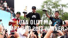 Luan Oliveira a enflammé la foule du skatepark au Tampa Pro 2013 ! Rude concurrence avec Nyjah Huston qui a fait un run sans faute et Chaz Ortiz qui a enchainé rapidement ses lignes de tricks.