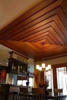 A Dramatic Beveled Cedar Ceiling