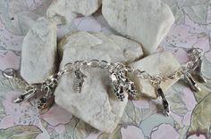 Tibetan Silver HEELS Shoes Charm bracelet on by NightWalkerDesigns, $11.00