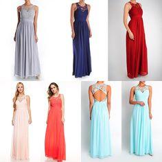 adce1b4b Affordable Floor Length chiffon Bridesmaid Dress in 6 Colors Rainbow  Bridesmaids, Bridesmaid Flowers, Wedding. Frugal Mughal