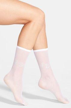 Betsey Johnson 'I Do' Sheer Socks | Nordstrom