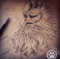 poseidon tatouage tanuki fisherman tattoo club aix en provence