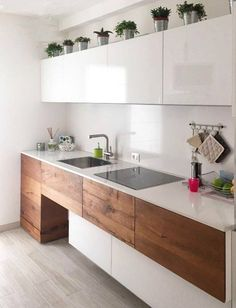 Lago - Kitchen- mix white and wood