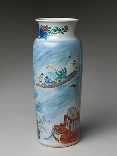 Vase with Scene from The Story of the Blue Robe Qing dynasty (1644–1911), Shunzhi period (1644–61) Date: mid-17th century Culture: China
