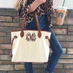 Monogram Tote Bag – I Love Jewelry Tote Bags For College, Bridesmaid Bags, Wedding Bridesmaids, Monogram Tote Bags, Classic Handbags, Cute Tote Bags, Monogram Styles, I Love Jewelry, Womens Tote Bags