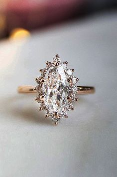 Engagement Rings : Picture Description 30 Stunning Brilliant Earth Engagement Rings ❤️ brilliant earth marquise cut halo rose gold snowflake ❤️ See more: www.weddingforwar… #weddingforward #wedding #bride