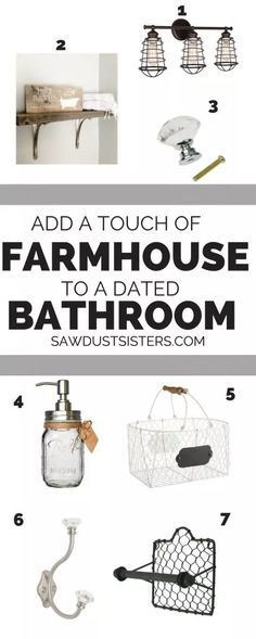 Affordable Farmhouse Bathroom Accessories - Sawdust Sisters