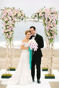 Southern California Wedding Ideas and Inspiration: The Sunset Restaurant Beach Wedding by H. Rustic Canopy Beds, Deck Canopy, Baby Canopy, Kids Canopy, Canopy Curtains, Backyard Canopy, Canopy Bedroom, Garden Canopy, Canopy Outdoor