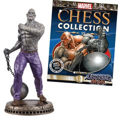 Absorbing Man black pawn chess piece