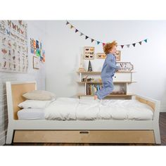 Sparrow Twin Trundle Bed by OEUF NYC in Birch