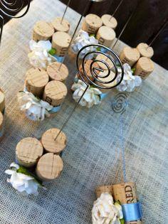 Rustic Wedding Table Number Holders by KarasVineyardWedding