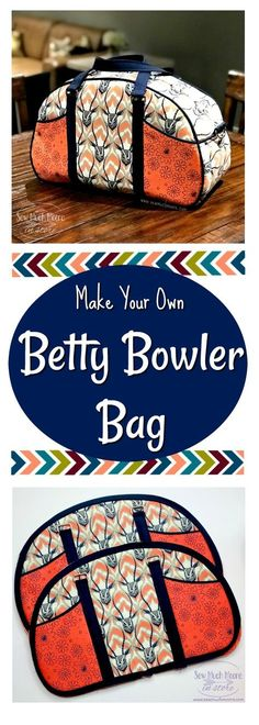 Check out these tips and tricks to make your own Betty Bowler Bag. Video tutorial and pattern info #sewing #bagmaking #bettybowlerbag