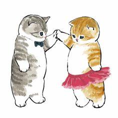 Cute Animal Drawings, Kawaii Drawings, Cute Cat Drawing, Griffonnages Kawaii, Arte Sketchbook, Pretty Drawings, Dibujos Cute, Cat Aesthetic, Cute Illustration