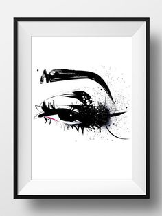 Fashion Illustration Makeup Art Print Poster Beauty Eyes