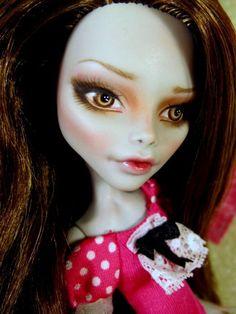 Ghoulia Yelps Repaint~ Custom Monster High OOAK Doll with Brunette Saran Reroot #Mattel On Ebay 9/13/14