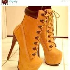 timberland spiked heels shoes