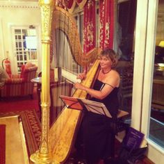 The Harpist plays in June and September in the Main Lounge