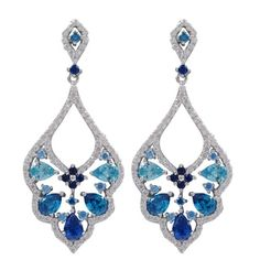 Shop for Luxiro Sterling Silver Lab-created Gemstone Cubic Zirconia Baroque Earrings. Get free delivery at Overstock.com - Your Online Jewelry Destination! Get 5% in rewards with Club O!