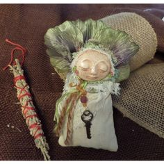 Spice Comfort doll, Ethnic Art, ooak Art Doll, collectible keepsake,... ($48) ❤ liked on Polyvore featuring home, home decor, wall art, witch figurines, leaf wall art, leaves wall art, doll figurines and handmade home decor
