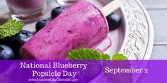 National Blueberry Popsicle Day September 2