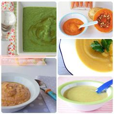 11 purés para bebés, ¡ricos y nutritivos! | PequeRecetas Baby Eating, Baby Led Weaning, Baby Health, Baby Care, Baby Food Recipes, Kids Meals, New Baby Products, Oatmeal, Food And Drink