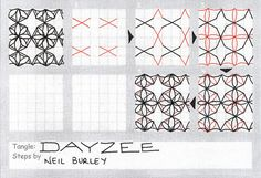 Dayzee - tangle pattern by perfectly4med, via Flickr