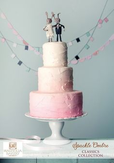 Pink Ombre Wedding Cake : by Magnolia Bakery