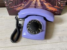 Vintage Purple phone, Old rotary phone, Lilac phone, Circle dial rotary phone, Vintage landline phone, Old Dial Desk Phone, Purple phone Rustic Vintage Decor, Pay Attention To Me, Retro Phone, Vintage Phones, Lilac, Purple, Beeswax Candles, Rotary, Landline Phone