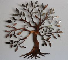 "Olive Tree --Tree of Live Metal Wall Art Decor Small 14"" Version"