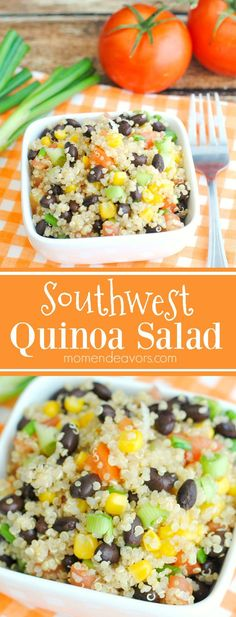 Southwest Quinoa Salad - a vegetarian & vegan, easy-to-make quinoa salad