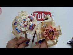 Diademas con Encaje Perlas Lazos /Moños fáciles paso a paso / diy #628 - YouTube