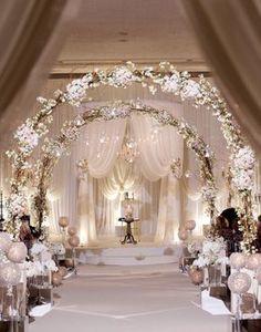 white wedding ceremony decoration
