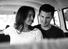 Drew and Christina.  Traveling up the coast in Butch the Bus.  Film.