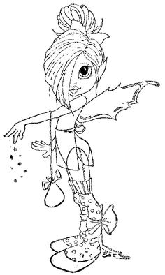 Tilly Fairy Coloring Pages, Adult Coloring Pages, Free Coloring, Coloring Books, Creation Art, Copics, Digital Stamps, Big Eyes, Colorful Pictures