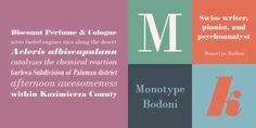 Monotype Bodoni - Webfont & Desktop font « MyFonts