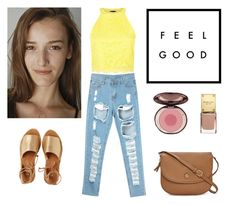 """FEEL GOOD"" by mariaalovett ❤ liked on Polyvore featuring Kaanas, Tory Burch and Charlotte Tilbury"