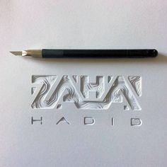 I was saddened when I heard about the news of Zaha Hadid passing. Part of the… I was saddened when I heard about the news of Zaha Hadid passing. Layout Design, Book Design, Design Art, Creative Typography, Typography Poster, Typography Drawing, Typography Inspiration, Graphic Design Inspiration, Creative Inspiration