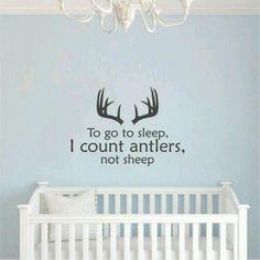 clothes diy Hunting bedroom ideas, Hunting nursery ideas, Antlers, little boys colours of vinyl Hunting Bedroom, Hunting Nursery, Baby Boy Rooms, Baby Boy Nurseries, Baby Room, Nursery Boy, Girl Room, Cute Kids, Cute Babies