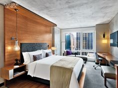 Firm: Jeffrey Beers International. Project: Renaissance New York Midtown Hotel. Photography by Eric Laignel.
