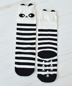 Look at this Black & White Panda Socks on #zulily today!