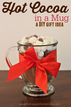 hot cocoa in a jar - a great gift idea!