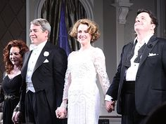 Stockard Channing, Matthew Broderick, Megan Mullally and Nathan Lane bow on opening night of IT'S ONLY A PLAY