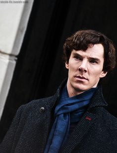 "nixxie-fic: ""Benedict Cumberbatch as Sherlock whilst filming Edit - (x) """