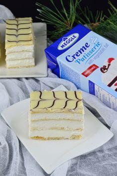 Mille-feuille (prajitura Napoleon) - CAIETUL CU RETETE Napoleon, Yummy Food, Bread, Cheese, Vegetables, Tarts, Delicious Food, Veggies, Breads