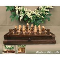 """Catherine 15"""" Wooden Chess Set"""