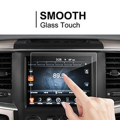 "LFOTPP Dodge Ram 1500 2500 3500 2014-2017 8.4"" Uconnect Glass Car Navigation Screen Protector, [9H] Tempered Glass Center Touch Screen Protector Anti Scratch High Clarity. For product info go to:  https://www.caraccessoriesonlinemarket.com/lfotpp-dodge-ram-1500-2500-3500-2014-2017-8-4-uconnect-glass-car-navigation-screen-protector-9h-tempered-glass-center-touch-screen-protector-anti-scratch-high-clarity/"